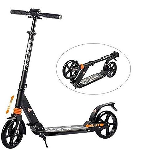 Windwalker K1 Scooter Patinete Plegable Portátil Altura Ajustable Doble Amortiguación Asa Desmontable 200mm Rueda Grande Monopatín Apto para ...