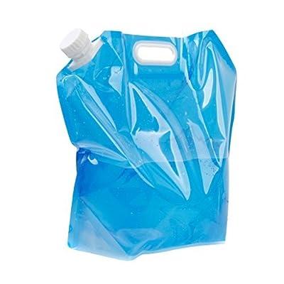 pliable de 10L d'eau potable Conteneur de stockage Sac pochette pour camping randonnée pique-nique barbecue clair et bleu