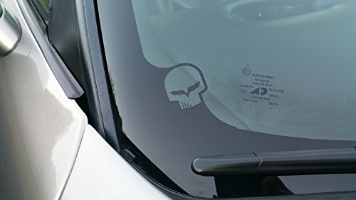 Corvette Jake Skull Decal Window Corner Sticker LSX LTX by Underground Designs