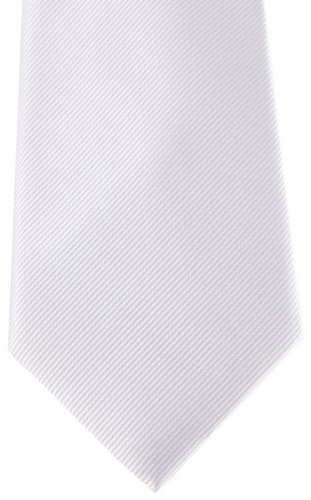 Tie Hagen Ribbed White Diagonal Van David Silk 5qtXaX