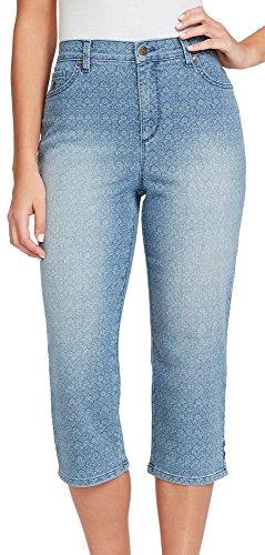 Gloria Vanderbilt Women's Amanda Capri Jeans, Sundance Batik Medallion, 12