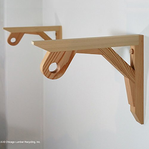Pair Of Shelf Support Brackets With A Closet Rod Setting Attached, Hanging Wardrobe/Coat Rack & Shelf Bracket--Set of 2