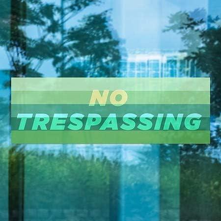 5-Pack Modern Gradient Window Cling No Trespassing 36x12 CGSignLab