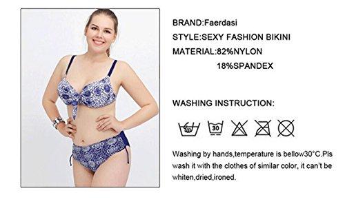 Bikini de gran tamaño de impresión de trajes de baño de alta cintura Rojo
