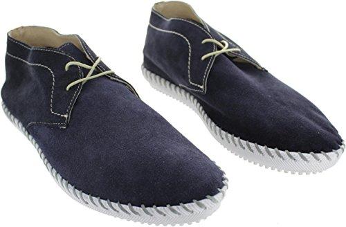 Ex display x001025_Navy, Chaussures de Ville à Lacets Pour Homme Bleu Bleu