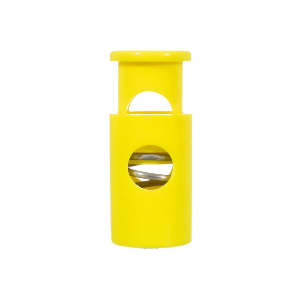 USA Made Single Barrel Hole Top Cord Locks Neon Green, 50 Pack