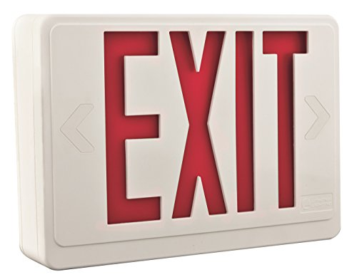 Lithonia Lighting LHQM LED R HO R0 M6 LED Exit Fixture with Red Letters and High Output Battery Backup by Lithonia Lighting (Image #3)