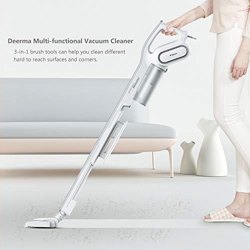 3 in 1 Deerma 15Kpa Handheld Stick Vacuum Cleaner with 600W Motors Powerful Suction, Lightweight Hardwood Floor Vacuum with HEPA Filter for Carpet, pet Hair, Rugs,Curtain