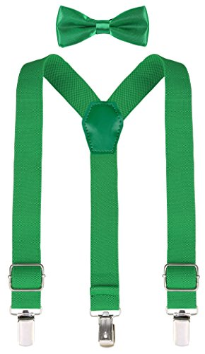 Lilax Boys Solid Color Adjustable Elastic Suspender & Bow Tie for Kids and Baby 26'' (Halloween Kid Party Ideas Pinterest)