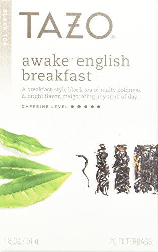 Tazo Awake  English Breakfast -20-Count Tea Bags (Pack of 6)
