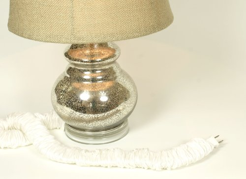 Pearl Silk Lamp Cord Cover 9 ft long 100% REAL SILK