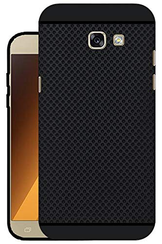 reputable site f5698 23ab6 Hello Zone Exclusive Premium Quality Dotted Matte Finish Soft Rubberised  Back Case Cover for Samsung Galaxy A5 (2017) -Black - Black