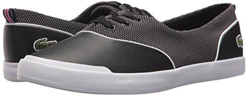 Lacoste Women's Lancelle 3 Eye 417 1 Sneaker, Black, 7.5 M US