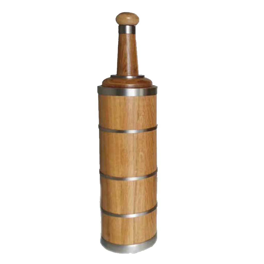 Wine barrel GX Oak Wood Bottle Household Wine Bottle Aged Oak Wine Red Wooden Barrel (Size : High Neck)
