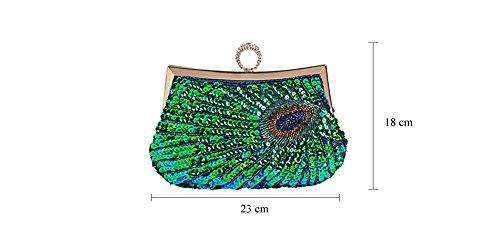Sequins Handbag Bridal Purse Beaded Bags Gifts Clutch Black Party Wedding Evening 5qtRwTx8x