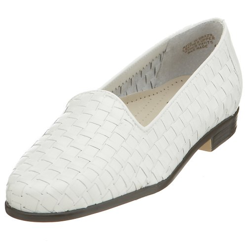 Trotters Womens Liz Loafer White Vitello