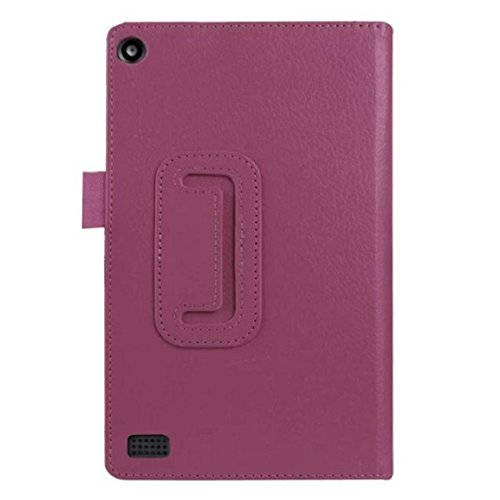 Price comparison product image Mchoice Leather Case Stand Cover for Amazon Kindle Fire HD 7 2015 Tablet (Purple)