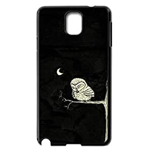 Night owl Cheap Cover Case for Samsung Galaxy Note 3 N9000,diy Night owl Cell Phone Case
