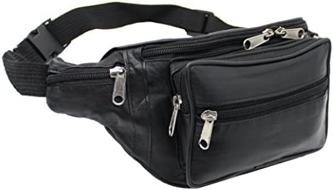 99cf2df495e RAS Genuine Soft Black Leather Extra Large Quality Travel Waist Bum Bag  Money Pouch Adjustable Belt - 1006  Amazon.ca  Luggage   Bags