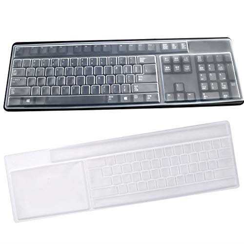 BronaGrand 2 Pack Clear Desktop Computer Keyboard Protection Skin Protector Cover for PC 104/107 Keys Standard Keyboard (Universal Keyboard For Desktop)