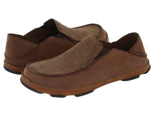 OLUKAI Men's Moloa Slip-on,Dark Wood/Dark Java,US 10 M ()