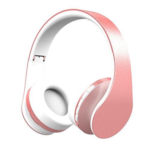 XHKCYOEJ Headset Stereo Headset/Bluetooth/Headphones/Stereo/Headphones,Rose Gold: Amazon.co.uk: Electronics