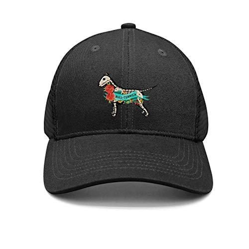 PEILIHAU Unisex Bull Terrier Bone Casual Fascinator Baseball ()