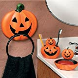 OTC 4 Pc. Pumpkin Jack-O-Lantern Halloween Bathroom Accessories Set
