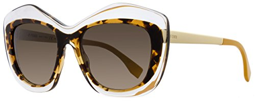 Fendi Women's Statement Sunglasses, Crystal/Brown Gradient, One - Glasses Fendi 2014