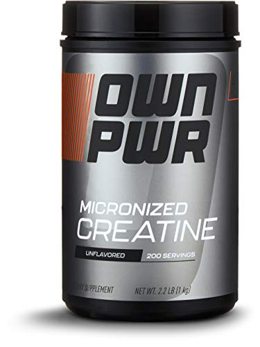 OWN PWR Micronized Creatine Monohydrate Powder, Unflavored, 1000g, 200 servings
