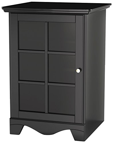 - Pinnacle 1-Door Audio Tower 101506 from Nexera - Black