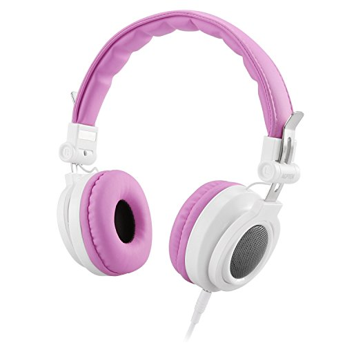 AGPTEK Kids Headphones Over Ear, Wired On-Ear Children Headsets Volume Control & 85dB Volume Limited for Protection, Detachable Cord, Safe Food Grade Material, 3.5mm Audio Jack for Girls, Pink (Best Food For Toddlers Growth)