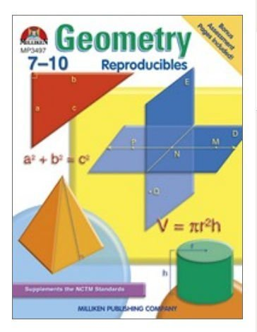 Geometry Reproducibles Book by MILLIKEN & LORENZ EDUCATIONAL PRESS