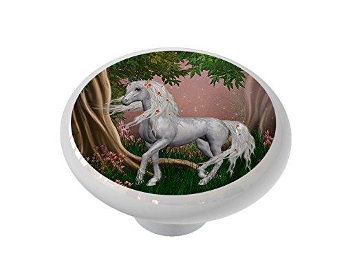 Unicorn Rose Ceramic Drawer Knob