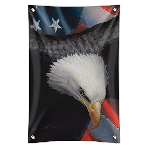 Graphics and More American Flag Bald Eagle Forever Free Home