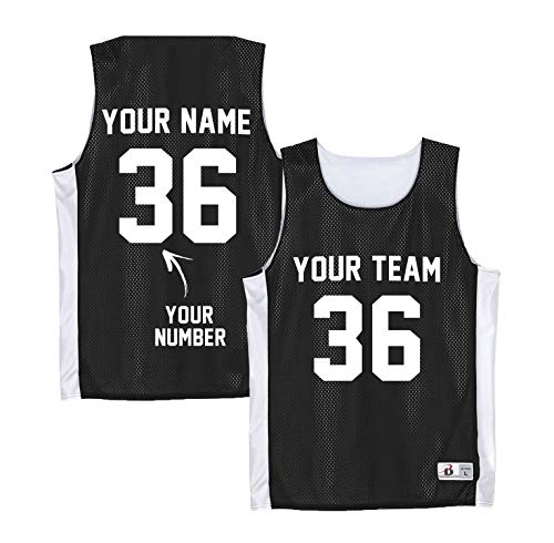 Reversible Basketball Jerseys Women - Custom Basketball Tank Tops - Black Soccer Pennies