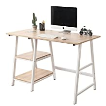 """Soges Computer Desk 47"""" PC Desk Office Desk with Shelf Workstation for Home Office Use Writing Table,Tplus-MO-CA"""