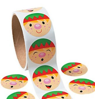 100 stickers per roll 1 1//2 FX Penguin Face Roll of Stickers