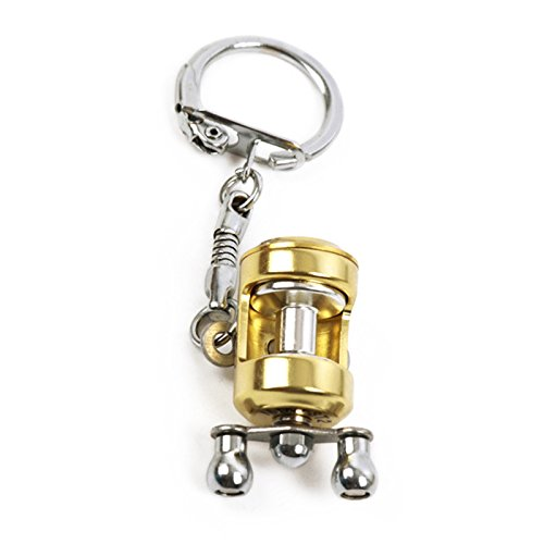 EDTara Creative Miniature Trolling Reel Drum Wheel Shape Key Chain Fishing Wheel Pendant Angler Gift
