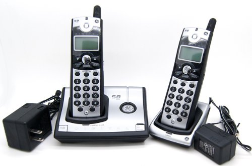 Ge Dual Telephone (GE 28021EE2 Digital 5.8 GHz Cordless Phone with 2 Handsets and Call Waiting Caller)