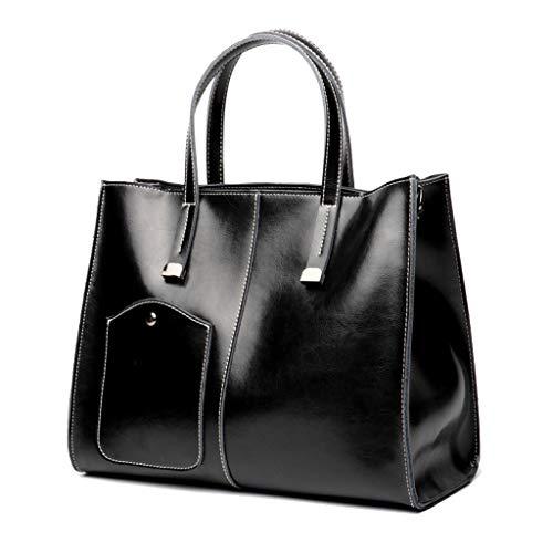 Noir Mode Simple Multifonctionnel Bandoulière À Pour Grande La Capacité Sac De Travail Rétro Czlyb Femme U06wq