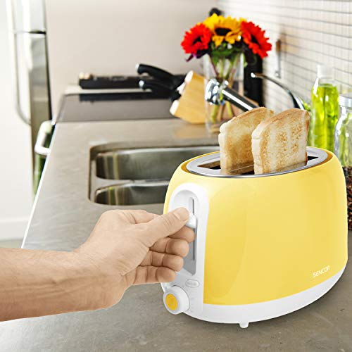 Sencor STS36YL 2-slot High Lift Toaster with Safe Cool Touch Technology, Sunflower Yellow