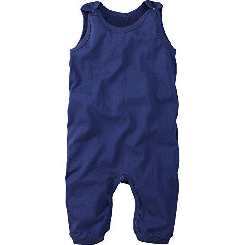 wellyou, Baby-Strampler, Kinder-Strampler, blau, Strampelanzug für Jungen und Mädchen, Single-Jersey aus 100% Baumwolle, Größe 68-74