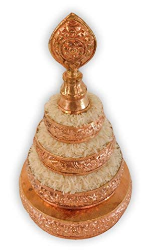 Hands Of Tibet Copper Mandala Offering Set 5 Inch Diameter (5'' Gold) by Hands Of Tibet (Image #2)