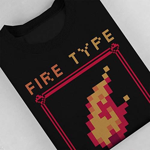 Fire Fire Sweatshirt Pokemon Black Black Black Generation Type 1996 Women's wwCA6Uq