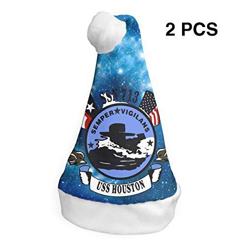 (DFFEWG USS Houston Unisex Christmas Hat Party Hats 2)