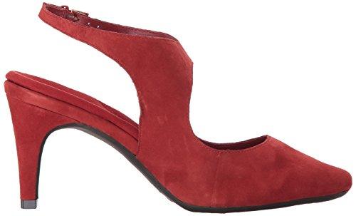 Aerosoles Womens Esempio Pompa Abito Camoscio Rosso
