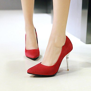 Talones de las mujeres de primavera y verano de cuero Otro vestido de tacón de aguja Otros Negro Verde Rosa Rojo Black