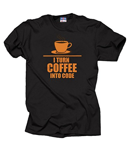 I turn Coffee into code T-shirt Programmer Tee Shirt