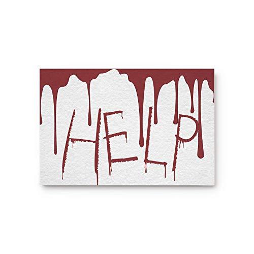 Meet 1998 Happy Halloween Help Door Mats Rug,Floor Mats Front Doormats Non-Slip Bedroom Carpet Home Kitchen Rug 23.6x15.7inch